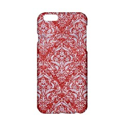 Damask1 White Marble & Red Glitter Apple Iphone 6/6s Hardshell Case by trendistuff