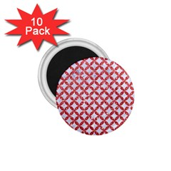 Circles3 White Marble & Red Glitter (r) 1 75  Magnets (10 Pack)  by trendistuff