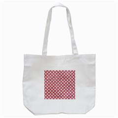 Circles3 White Marble & Red Glitter (r) Tote Bag (white) by trendistuff