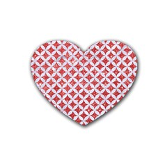 Circles3 White Marble & Red Glitter Heart Coaster (4 Pack)  by trendistuff