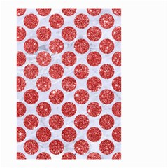 Circles2 White Marble & Red Glitter (r) Small Garden Flag (two Sides) by trendistuff