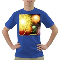 Celebration Colorful Fireworks Beautiful Dark T Shirt by Sapixe