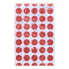 Circles1 White Marble & Red Glitter (r) Shower Curtain 48  X 72  (small)  by trendistuff