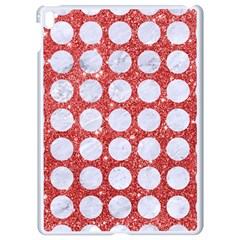 Circles1 White Marble & Red Glitter Apple Ipad Pro 9 7   White Seamless Case