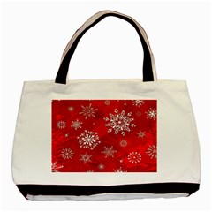 Christmas Pattern Basic Tote Bag by Sapixe