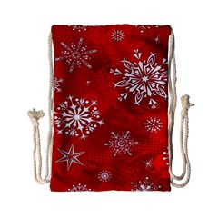 Christmas Pattern Drawstring Bag (small) by Sapixe