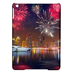 Christmas Night In Dubai Holidays City Skyscrapers At Night The Sky Fireworks Uae Ipad Air Hardshell Cases by Sapixe