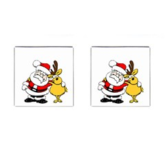 Christmas Santa Claus Cufflinks (square) by Sapixe