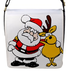 Christmas Santa Claus Flap Messenger Bag (s) by Sapixe