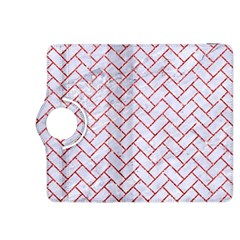 Brick2 White Marble & Red Glitter (r) Kindle Fire Hdx 8 9  Flip 360 Case by trendistuff