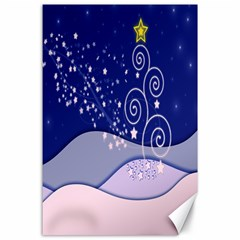 Christmas Tree Canvas 24  X 36  by Sapixe