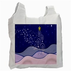 Christmas Tree Recycle Bag (one Side) by Sapixe