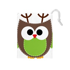 Clip Art Animals Owl Drawstring Pouches (medium)  by Sapixe