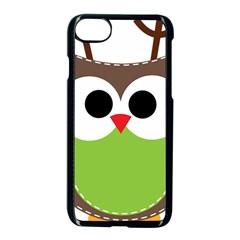 Clip Art Animals Owl Apple Iphone 8 Seamless Case (black) by Sapixe