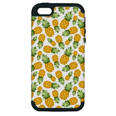 Pineapple Pattern Apple Iphone 5 Hardshell Case (pc+silicone) by goljakoff