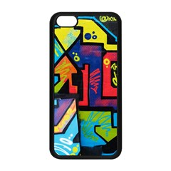 Urban Graffiti Movie Theme Produto Colorful Abstract Arrows Apple Iphone 5c Seamless Case (black) by MAGA