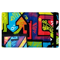 Urban Graffiti Movie Theme Productor Colorful Abstract Arrows Apple Ipad 2 Flip Case by MAGA