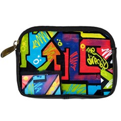 Urban Graffiti Movie Theme Productor Colorful Abstract Arrows Digital Camera Cases by MAGA