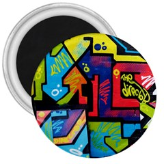 Urban Graffiti Movie Theme Productor Colorful Abstract Arrows 3  Magnets