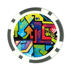 Urban Graffiti Movie Theme Productor Colorful Abstract Arrows Poker Chip Card Guard (10 Pack)