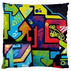 Urban Graffiti Movie Theme Productor Colorful Abstract Arrows Large Flano Cushion Case (one Side)