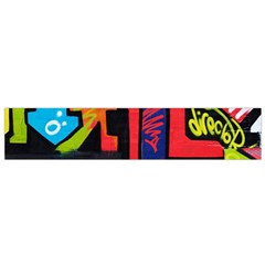 Urban Graffiti Movie Theme Productor Colorful Abstract Arrows Flano Scarf (small)  by MAGA