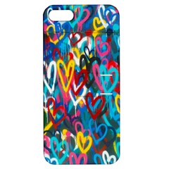 Graffiti Hearts Street Art Spray Paint Rad  Apple Iphone 5 Hardshell Case With Stand by MAGA