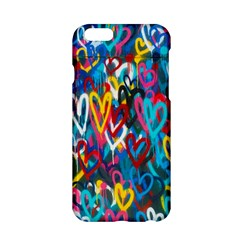 Graffiti Hearts Street Art Spray Paint Rad  Apple Iphone 6/6s Hardshell Case by MAGA