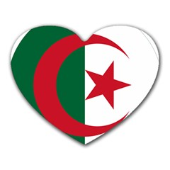 Roundel Of Algeria Air Force Heart Mousepads by abbeyz71