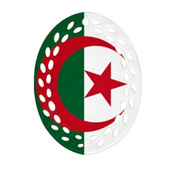 Roundel Of Algeria Air Force Oval Filigree Ornament (two Sides) by abbeyz71