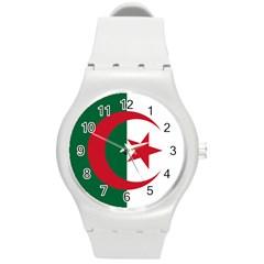 Roundel Of Algeria Air Force Round Plastic Sport Watch (m) by abbeyz71