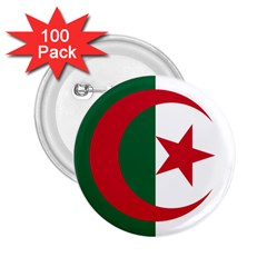 Roundel Of Algeria Air Force 2 25  Buttons (100 Pack)  by abbeyz71