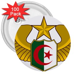 Badge Of The Algerian Air Force  3  Buttons (100 Pack)  by abbeyz71