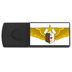 Badge Of The Algerian Air Force  Rectangular Usb Flash Drive by abbeyz71