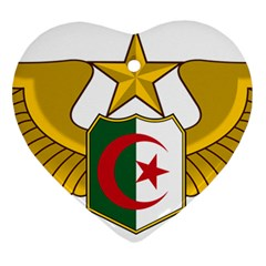 Badge Of The Algerian Air Force  Heart Ornament (two Sides) by abbeyz71