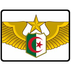 Badge Of The Algerian Air Force  Double Sided Fleece Blanket (large)  by abbeyz71