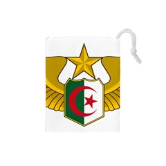 Badge Of The Algerian Air Force  Drawstring Pouches (small)  by abbeyz71