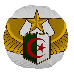Badge Of The Algerian Air Force  Large 18  Premium Flano Round Cushions by abbeyz71
