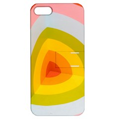Graffiti Orange Lime Power Blue And Pink Spherical Abstract Retro Pop Art Design Apple Iphone 5 Hardshell Case With Stand by MAGA