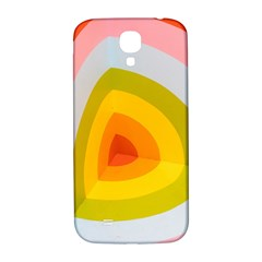 Graffiti Orange Lime Power Blue And Pink Spherical Abstract Retro Pop Art Design Samsung Galaxy S4 I9500/i9505  Hardshell Back Case by MAGA
