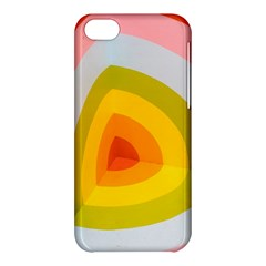 Graffiti Orange Lime Power Blue And Pink Spherical Abstract Retro Pop Art Design Apple Iphone 5c Hardshell Case by MAGA