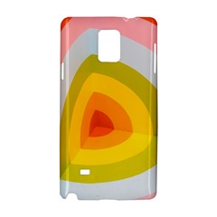 Graffiti Orange Lime Power Blue And Pink Spherical Abstract Retro Pop Art Design Samsung Galaxy Note 4 Hardshell Case by MAGA