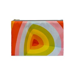 Graffiti Orange Lime Power Blue And Pink Spherical Abstract Retro Pop Art Design Cosmetic Bag (medium)  by MAGA