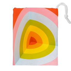 Graffiti Orange Lime Power Blue And Pink Spherical Abstract Retro Pop Art Design Drawstring Pouches (xxl) by MAGA