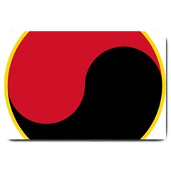 Roundel Of Angolan Air Force Large Doormat  by abbeyz71