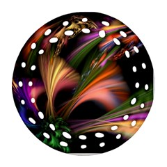 Color Burst Abstract Round Filigree Ornament (two Sides)