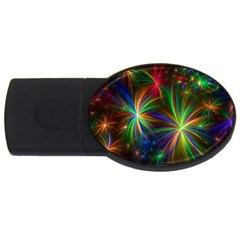 Colorful Firework Celebration Graphics Usb Flash Drive Oval (4 Gb) by Sapixe