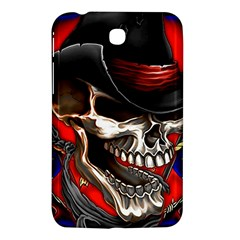 Confederate Flag Usa America United States Csa Civil War Rebel Dixie Military Poster Skull Samsung Galaxy Tab 3 (7 ) P3200 Hardshell Case  by Sapixe