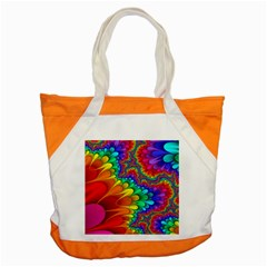 Colorful Trippy Accent Tote Bag by Sapixe