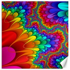 Colorful Trippy Canvas 16  X 16   by Sapixe